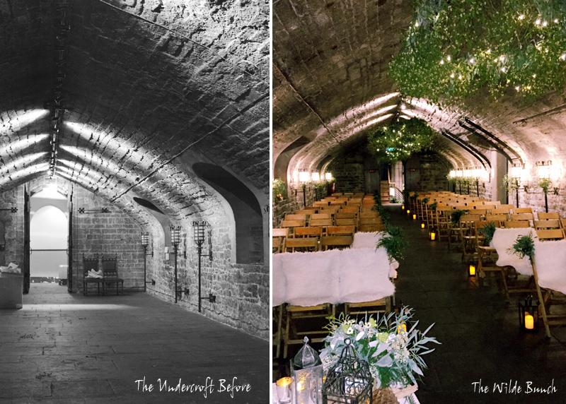 Alex Jones wedding ceremony room at Cardiff Castle