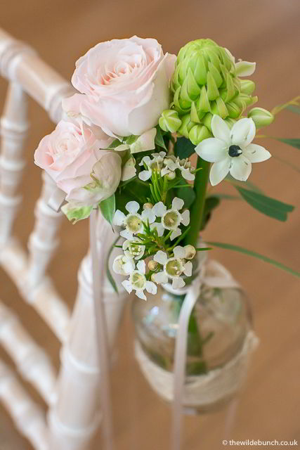 Wedding flowers at Coombe Lodge