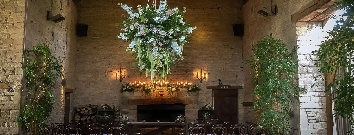 Cripps Barn - flowers hanging