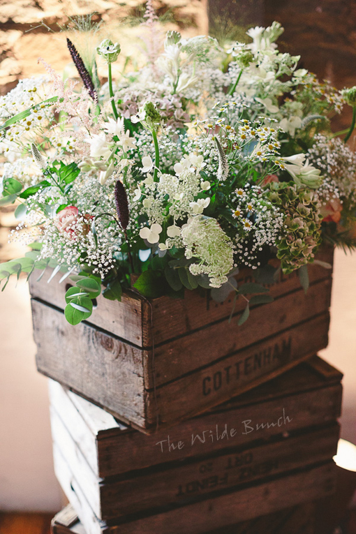 Floral crate stack