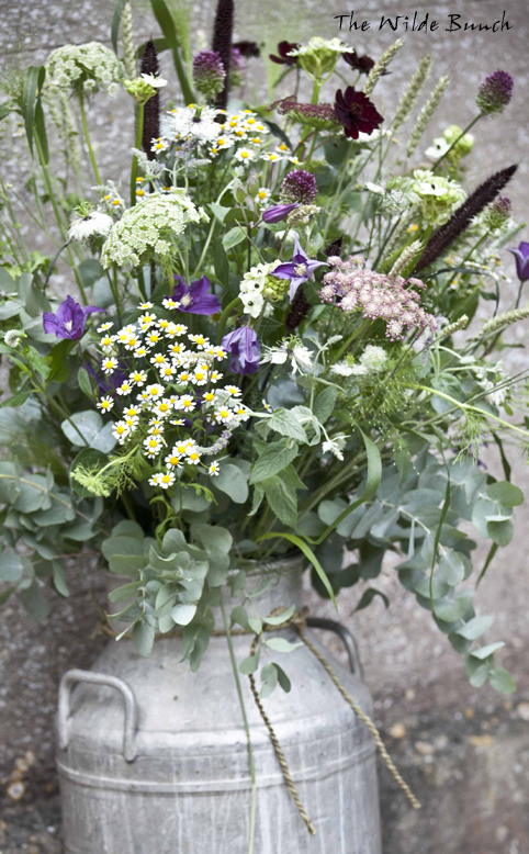Summer Wedding Flowers - Wild flower Milk churn
