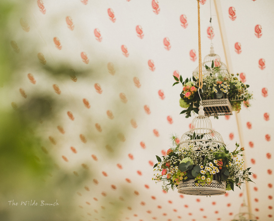 Wedding flowers, Bird cages