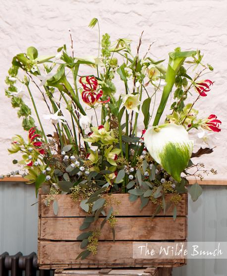 Floral crate stack design