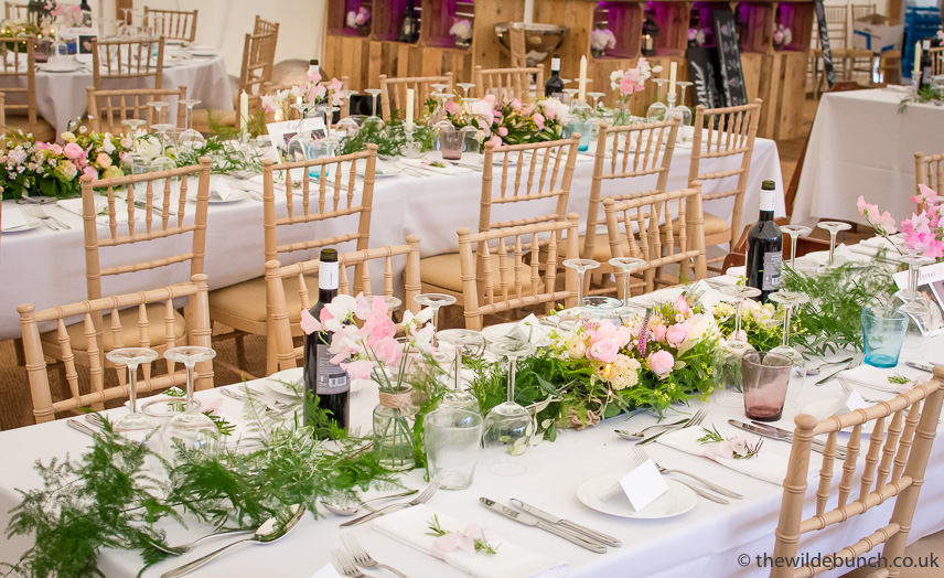 Marquee wedding tablecentres
