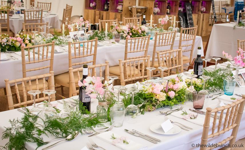 Marquee wedding tablecentres