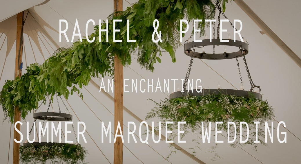 Summer Marquee Wedding - Hanging Garlands