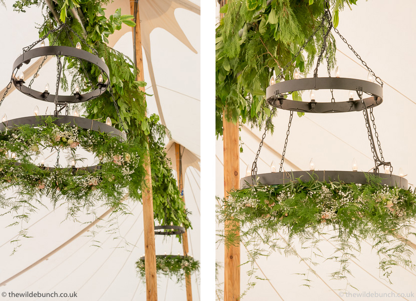 Hanging marquee garland