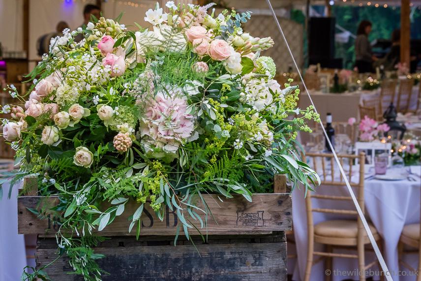 Marquee wedding flower ideas