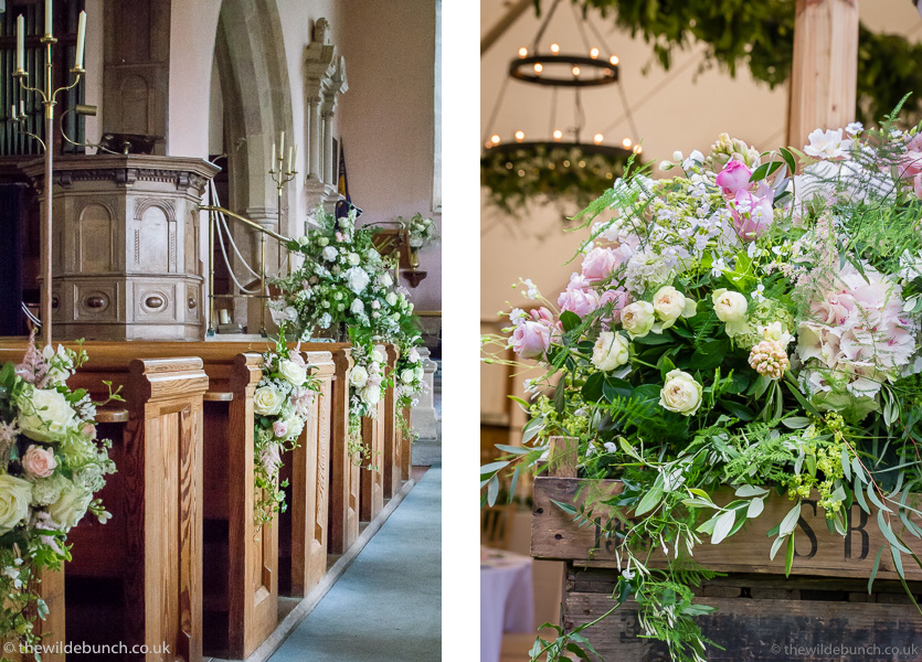 Floral designs for marquee weddings