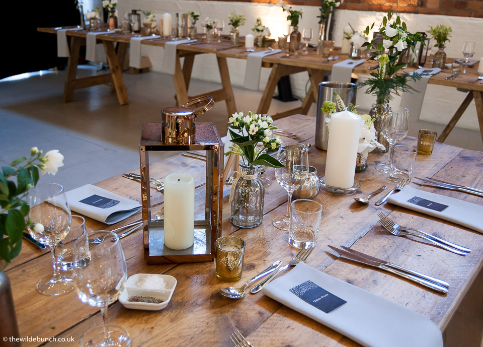 Wedding styling at Paintworks