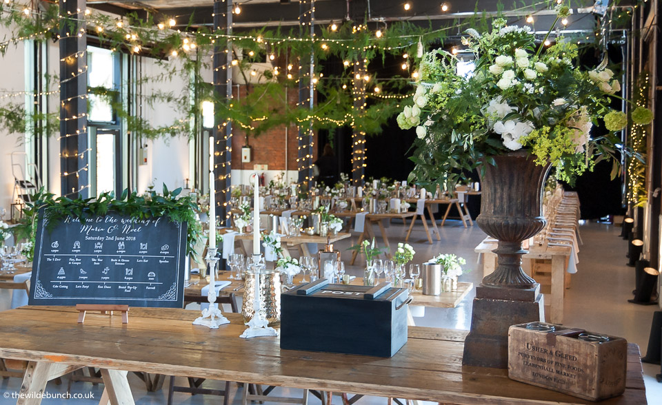 Rustic Themed Wedding Flowers At Paintworks