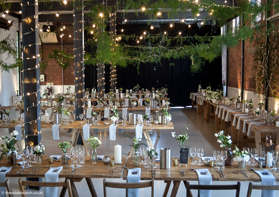 Rustic Chic wedding flowers at Paintworks