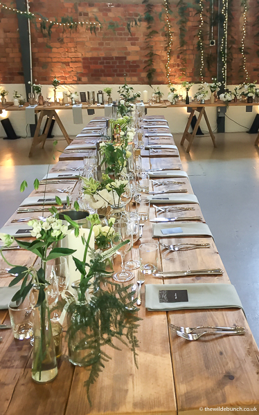 Wedding Flowers at Paintworks